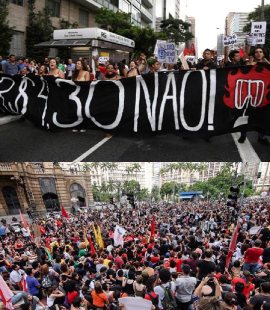Atos em São Paulo mostram que não há repressão que impeça as classes dominadas de lutar!