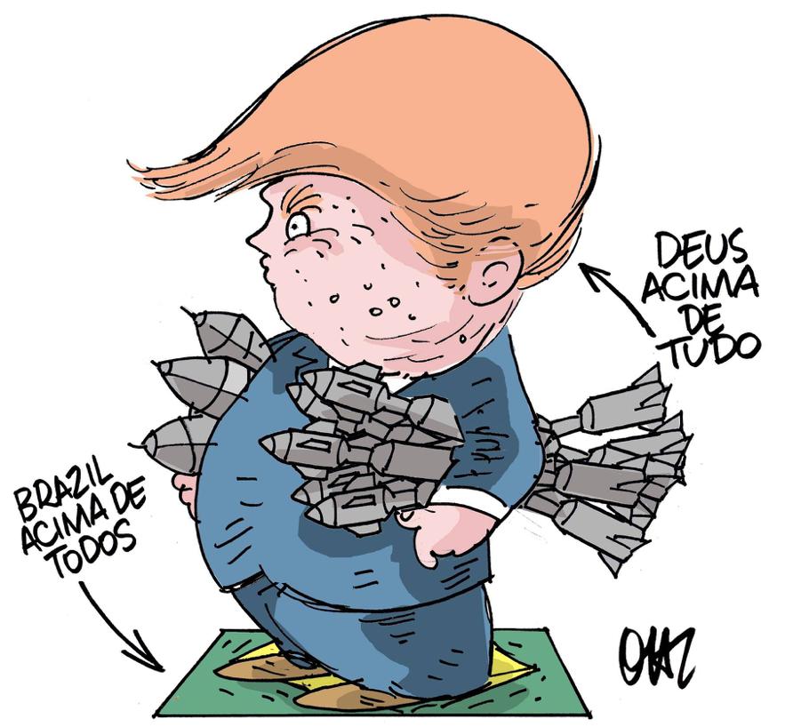 Chega de intermediários. Donald Trump para presidente do Brasil!